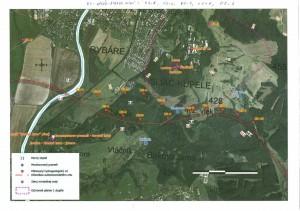 Mapa hydrogeologickych vrtov na Sliači